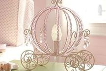 Princess Little Girl Bedrooms / Princess Little Girl Bedroom Ideas | Disney | Shabby Chic | Little girls dream of being princesses, so why not give them their own tiny kingdom? Whether you're decorating a baby girl's princess nursery or a girly bedroom for an older princess, you'll find plenty of ideas like chandeliers, Disney inspiration, canopies, mirrors, shelves, dressers, purple colored rooms and so much more that will delight your little princess!