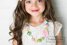 Little Girls Jewelry / Little Girls Jewelry | Daugther | Kids  | Baby + Toddler | Flower Design | What little girl doesn't love necklaces? Discover Think Pink Bows awesome and affordable necklace, bracelet and jewellery collection. They are the perfect accessory for your girly girl! Ideal for photo shoots, weddings, performances, birthdays, parties, birthday gifts, or everyday! Looking for a unique and affordable gift? SHOP our jewelry collection for little girls at http://thinkpinkbows.com/collections/jewelry