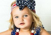 4th of July Outfits for Girls / 4th of July Outfits for Girls + Kids + Babies | Summer Fashion | American Flag | Stars | America | USA | Blue + Red | Etsy Products | Celebrate the 4th of July in style with a new American outfit. Your kids can celebrate the summer and the 4th of July in style! Discover blue and red star headbands for girls at  http://thinkpinkbows.com/collections/holiday-headbands