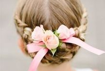 Flower Girl Hairstyles / Easy Flower Girl Hairstyles for Kids + Toddlers | Updo for Weddings | With Braids | Headbands For Short Hair | Tiaras | A wedding may be all about the bride, but the flower girl plays a pretty important role. If you are in search of an easy hairstyle for flower girl that fits into a more simple wedding, discover updo's, braided crown girls hairstyle, headbands for short hair, and hair accessories designed for flower girls! SHOP http://thinkpinkbows.com/collections/bling-headbands