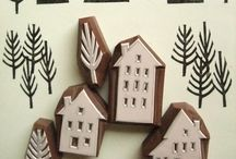 handmade stamps / stamping crafts with homemade stamps