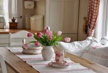 Antique and Vintage Linens in Use