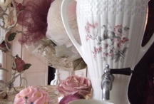 Romantic shabby chic pink cottage  kitchen / My kitchen may be small on square footage, but not small on style!!! / by Suzy Homefaker