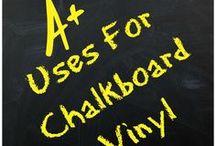 Uses for Chalkboard Vinyl / #design custom sign design