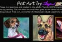 Contest: Pet of the Week / You could win a free painting of your pet in my POTW painting contest.