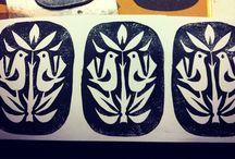 Stamps, stencils & lino