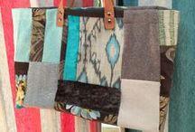 Ultimissime novità dal mondo! / Sacche realizzate con tessuti diversi (seta, cotone, lana...) interamente realizzate a mano! Non troverete mai due borse uguali!
