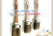Heirloom Traditions Paint Brush Collection / Heirloom Traditions Paint Brush Collection including a full line of Syntec Fiber brushes and applicators as well as the True Sponge Applicator.