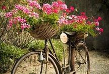à bicyclette...