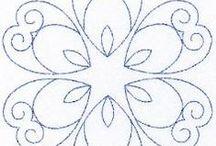 Trapunto - sashiko - prošívání -  vzory
