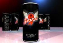 Baron energetický nápoj / dve varianty obalu energetickeho napoja