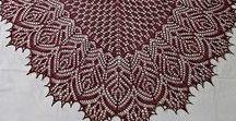 Шали спицами / Shawls knitting