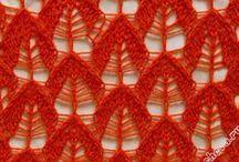 Узоры спицами / Patterns knitting