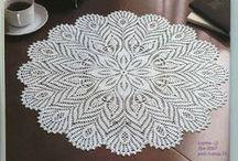 Салфетки, скатерти крючком / Crochet doilies, tablecloths crochet