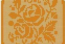 Филейное кружево. Салфетки. Скатерти. / Fillet lace. Swipe. Tablecloths.