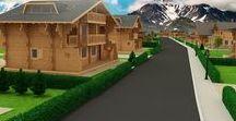 Tatra Mountains Golf Resort 3D - výstavba dreveníc / 3D vizualizácia pre podporu predaja pozemkov v golfovom rezorte vo Vysokých Tatrách.