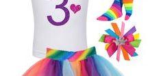 Rainbow 3rd Birthday / girls 3rd birthday rainbow tutu skirt, glitter 3 shirt with love heart and princess crown, rainbow socks, princess rainbow hair bow.