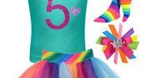 Rainbow 5th Birthday / girls 5th birthday rainbow tutu skirt, glitter 5 shirt with love heart and princess crown, rainbow socks, princess rainbow hair bow.