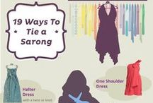 How to Tie A Sarong? / Tutorials for those who want to learn - How to Tie a Sarong? How to Tie a Scarf? How to Tie? Handy information curated for you!