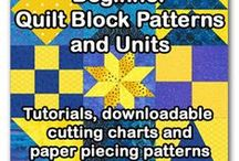 Quilting-Quilt Blocks-Tutorials / Quilt block patterns, children's quilts, easy quilt patterns, how to make a quilt, quilting for beginners, intermediate and experienced quilters, free downloads, tips, reference and resource for quilters.  / by Diane Pfile