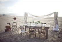 Beach Wedding Dream / We all dream of that once in a life time experience to marry our loved ones by the beach..overlooking the ocean, sun is setting, breeze brushing our skins...love is all around <3
