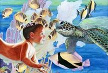 Ocean Inspired Art / Art collection that related to the ocean, sea creatures, life elements...