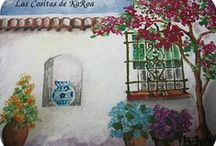 KaRoa Designs. Patios Andaluces T-shirts