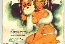 FUR IN VINTAGE CHRISTMAS CARDS
