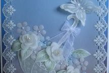 Beautiful parchment cards / handmade cards made using parchment paper