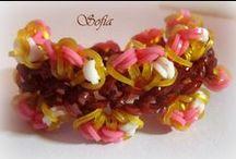 My creations / bracelets, rainbow loom, macrame