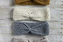 Crochet headbands/diademas