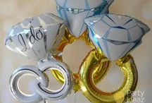 Engagement Party Decorations / Engagement Balloons are a great affordable way to decorate an Engagement Party.  Foil letter balloons, Engagement Ring Balloons, Confetti Balloons all look fabulous especially when put together with beautiful Tassels and Balloon garland.  Engagement banners are also a great way to create the beautiful scene.......