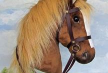 """Hobby-Horsing Horses / Hobby horses specially designed for """"hobby-horsing"""". They have a shorter stick so that they can be used for jumping."""