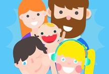 Family Members in English / A brief review of family members in English for kids to practice.