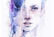 a r t - i s - b e a u t i f u l /  ART:Womens Faces|Expressions [painting/drawing/illustration/& watercolor] Thank you for visiting this board. Happy pinning. xx / by Lally Pegorini