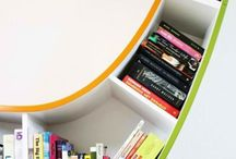 Books used creatively / Different ways to store those books!