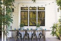 Decor - Outdoor / Ideas to make your home feel bigger - bringing the outside in with these living-room like outdoor space inspiration photos.