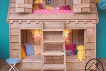 DORMITORIO INFANTIL / Kids room, c hambre enfant, camas, telas, papel de pared, murales, alfombras, cocines,  luces, iluminación, estanterías, decoración / by Arantxa Martín