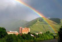 """""""I set my rainbow in the cloud,... / ..and it will be for a sign of a covenant between me and the earth.""""  (Genesis 9:13)  --  """"Minä panen kaareni pilviin, ja se on oleva liiton merkkinä minun ja maan välillä.""""  (1.Moos.9:13)   / by Elsa Maija"""