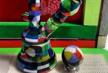Heady Glass / Heady glass, and heady glass with Oil Slick products.