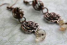 Dangle earrings / Pretty dangle and wire wrapped earring designs from all over the globe!!!