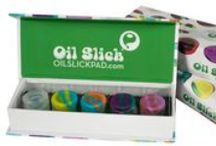 Oil Slick Stack Micros / Our newest product: the Oil Slick Stack Micros!  These cute little guys hold 1.5 grams each and come in a pack of 5...4 colors and 1 clear.