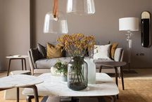 Salon - Living-room - luminaire - lighting / Décoration intérieur du salon, living room interior decoration