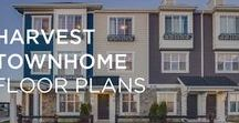 Harvest Townhome Floor Plans /  Harvest Townhomes are spaciously designed with large decks and patios and come with 1 and 2 car attached garages, plenty of storage space and your own private entrance.