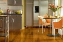 Vinyl Flooring / Vinyl can look like wood, slate, ceramic tile or stone, with depth and realism that can fool nearly any eye. And it does all that while being budget friendly, sensible, durable and easy to clean. http://carpetspluswi.com/products/vinyl/ / by Carpets Plus of Wisconsin