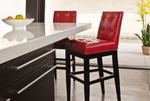 Belly Up / Bar stools can add incredible dimension to any bar or pub height dining area.