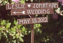 Weddings: Creative Signage