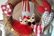 InMyNest Wreaths / Handmade personalised wreaths, family wreaths, owls, felt owls, family gifts, wreath