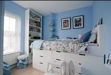 Ikea Hack Bedroom Makeover / Design and Inspiration for our Children's bedroom Ikea Hack with midsleeper bed. Made using Ikea Nordli Chests of drawers and an old bedframe. There's a secret den underneath the bed.