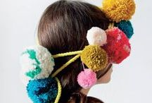 Pompon inspiration / pompon - DIY - girly